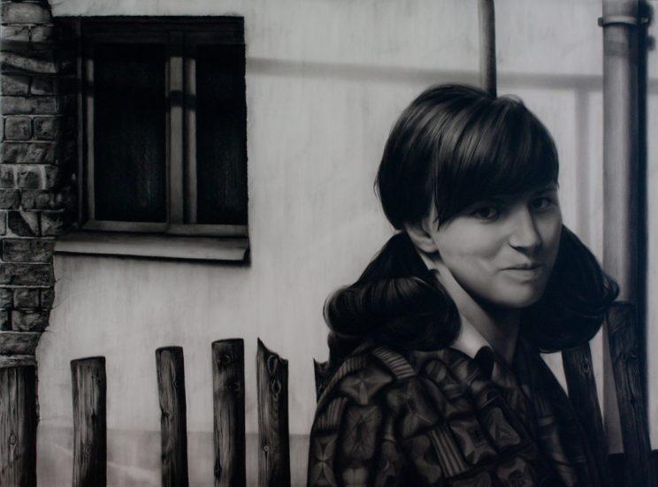 Portrait, Jana Geilhof, Ölgemälde, Smile, Lächeln, Kunst, Malerei, Gemälde, Kunstwerk, Ölmalerei