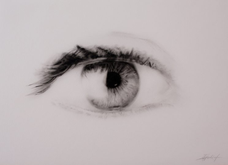 Auge, Jana Geilhof, Ölgemälde, Kunst, Malerei, Gemälde, Kunstwerk, Ölmalerei