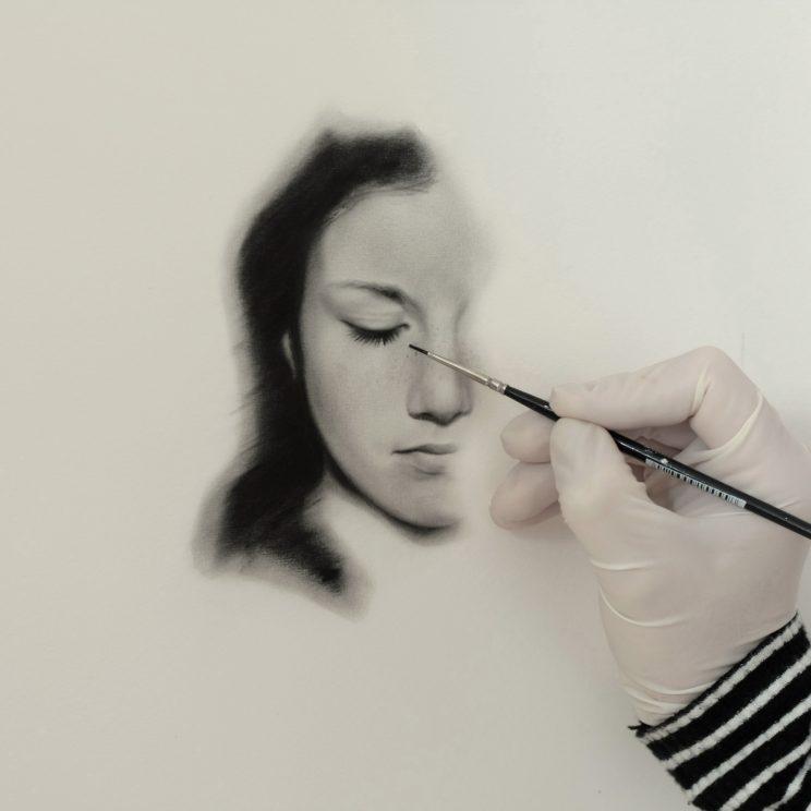 Portrait, Ölgemälde, Jana Geilhof, Kunst, Malerei, Gemälde, Kunstwerk, Ölmalerei