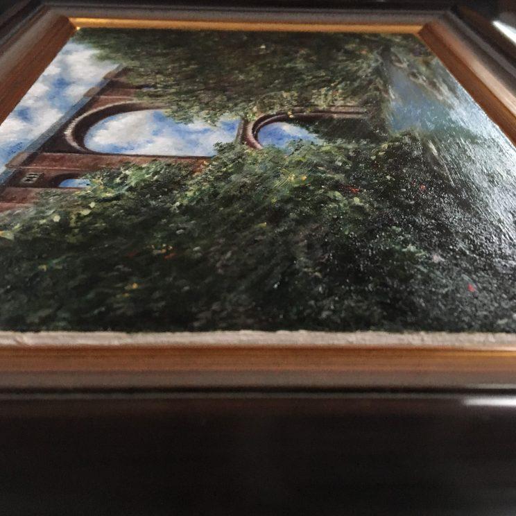 Elstertalbrücke, Jana Geilhof, Landschaft, Ölgemälde, Malerei, Kunstwerk, Ölmalerei, Wasser, Kunst
