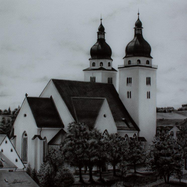 St. Johanniskirche, Plauen, Jana Geilhof, Ölgemälde, Malerei, Kunstwerk, Ölmalerei, Kunst, Kirche