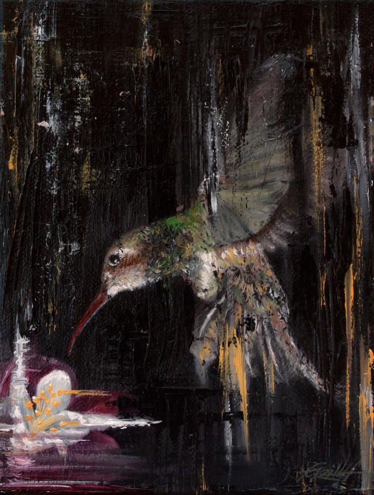 Kolibri, Jana Geilhof, Ölgemälde, Malerei, Kunstwerk, Ölmalerei, Kunst, Abstrakt