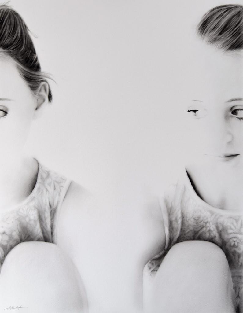Portrait, Jana Geilhof, Ölgemälde, Distance, Kunst, Malerei, Gemälde, Kunstwerk, Ölmalerei
