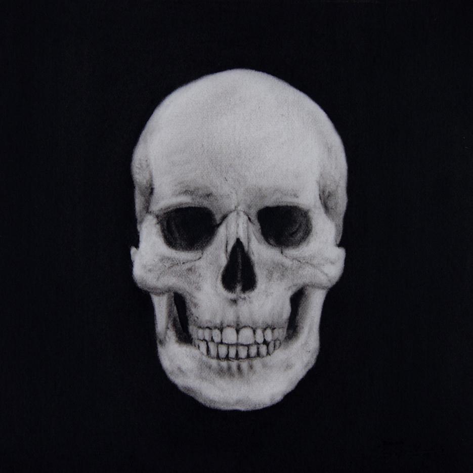 Portrait, Jana Geilhof, Schädel, Skull, Ölgemälde, Kunst, Malerei, Gemälde, Kunstwerk, Ölmalerei