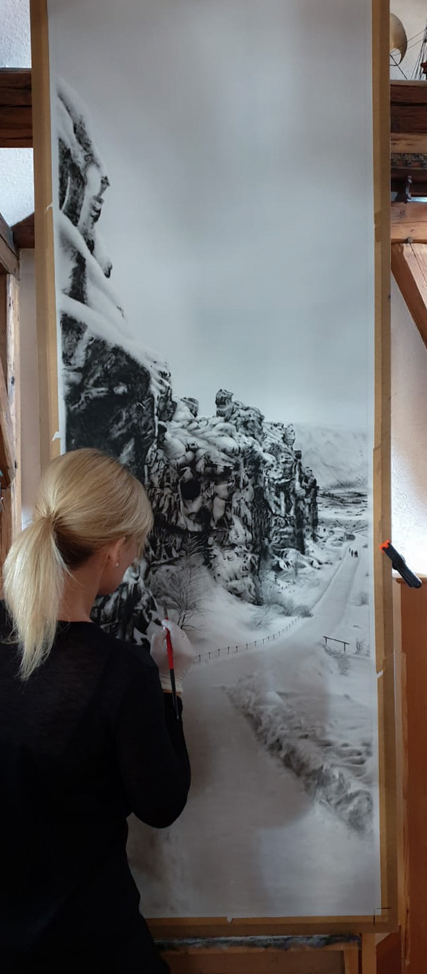Island, Landschaft, Jana Geilhof, Ölgemälde, Kunst, Malerei, Gemälde, Kunstwerk, Ölmalerei