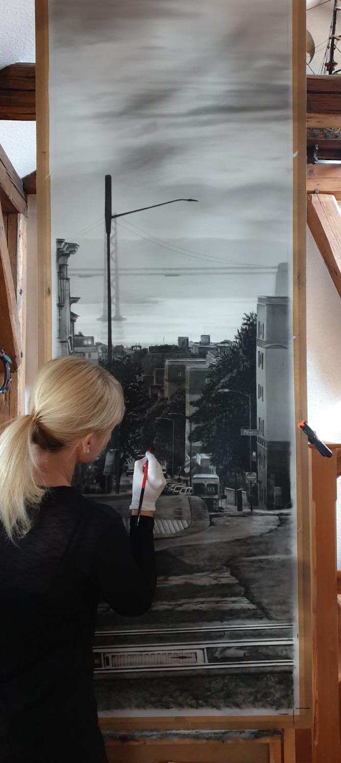 San Francisco, Ölgemälde, Jana Geilhof, City, Kunst, Malerei, Gemälde, Kunstwerk, Ölmalerei